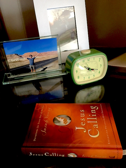 Jesus Calling on family end table