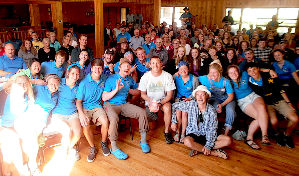 Paul visits Flathead Bible Camp on his way through Montana.