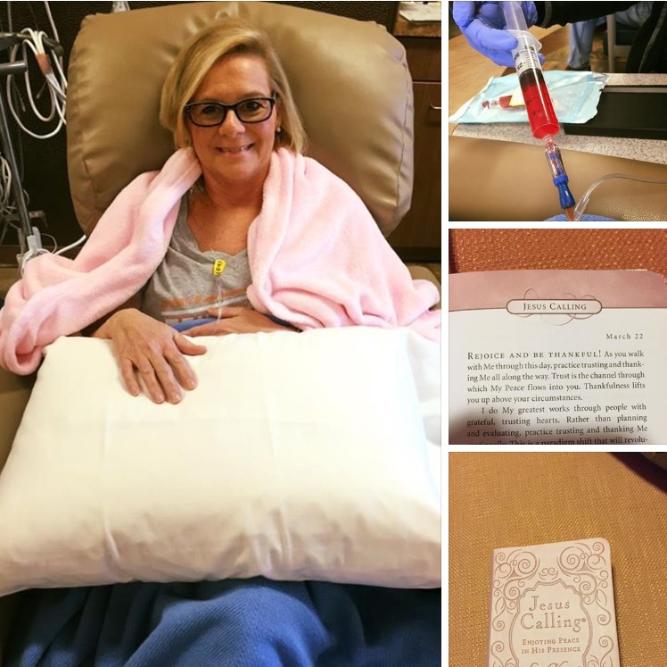 A patient with a copy of Jesus Calling