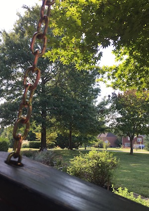 A view from Sherri Gragg's porch swing.