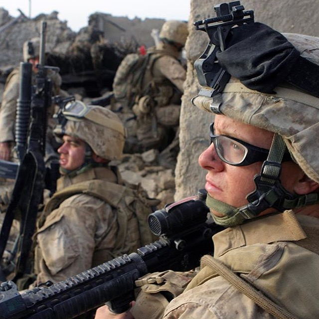 Zachary Bell serving in Afghanistan