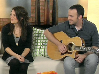 Christy Nockels discusses her musical career on a television talk show.