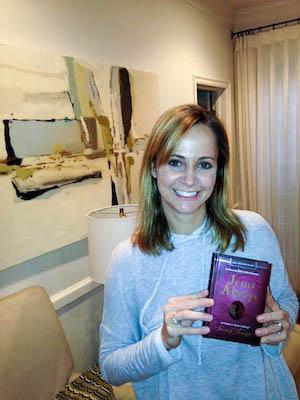 Kari Kampakis and her copy of Jesus Calling.