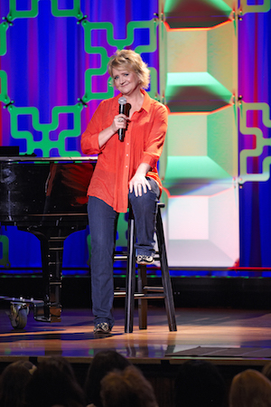 Chonda Pierce preforming at the Ryman Auditorium.