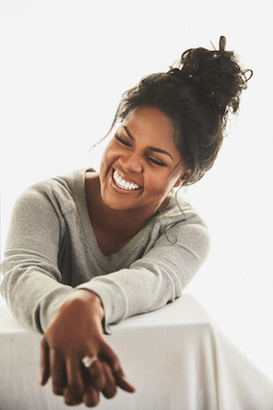 CeCe Winans smiles during her album photoshoot.