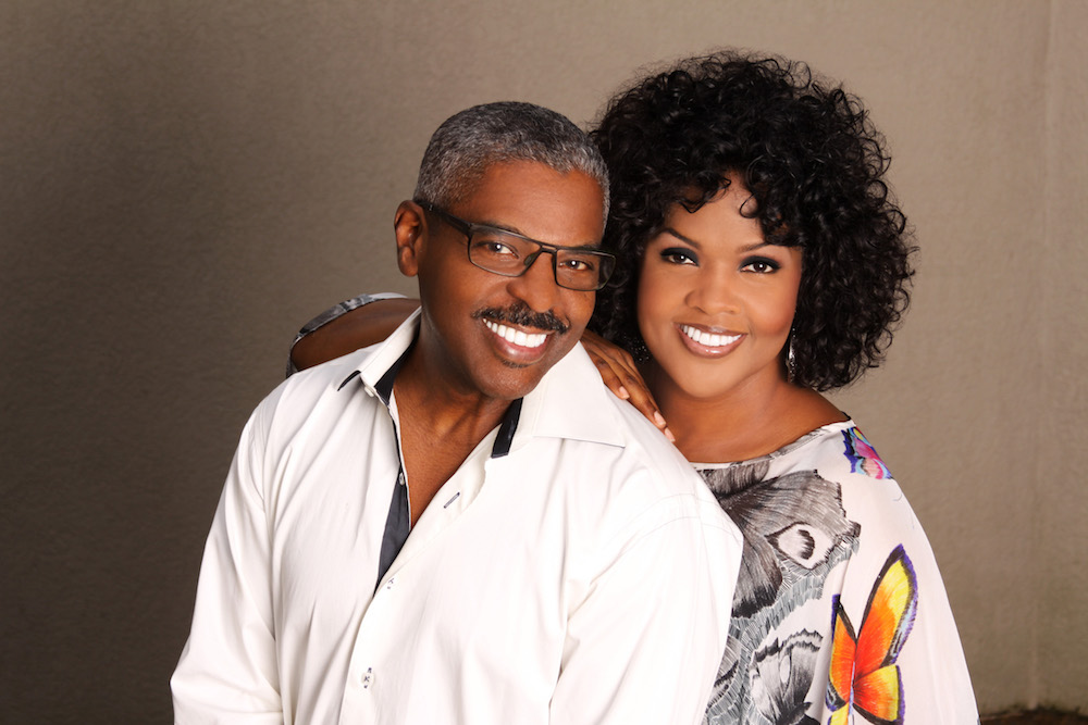 CeCe Winans with her husband.