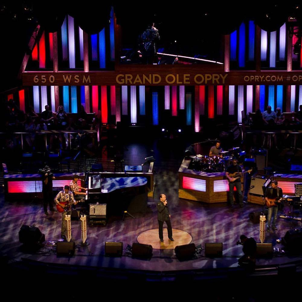 Lee Greenwood preforming at the Grand Ol Opry.