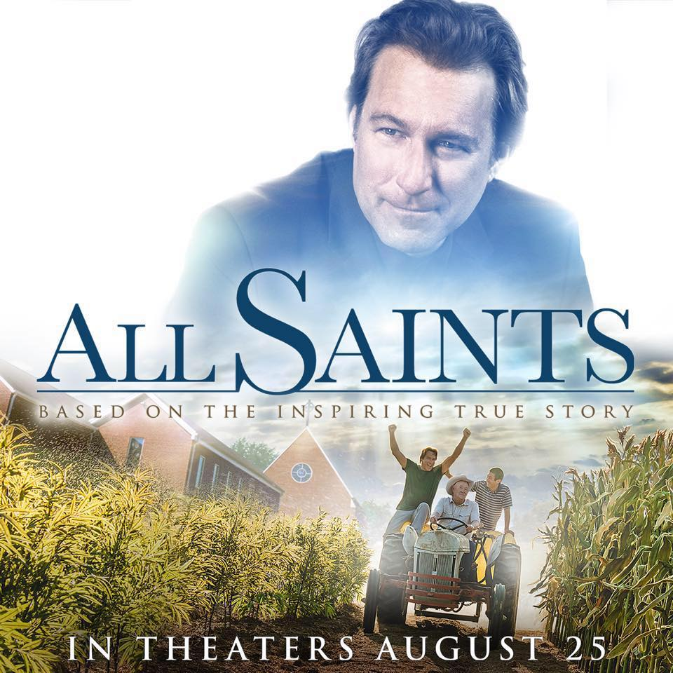 "A movie poster for the PureFlix film, ""All Saints""."