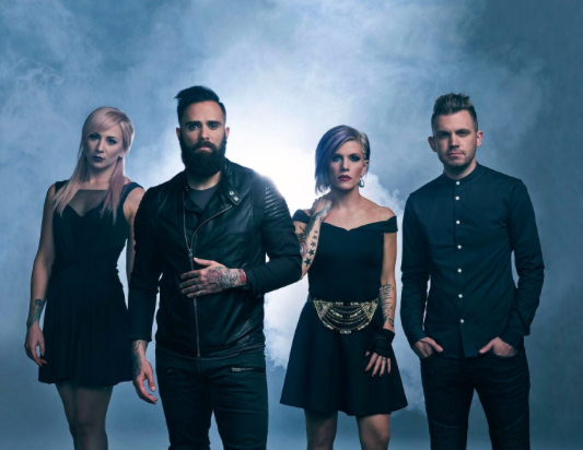 John Cooper and the members of Skillet.