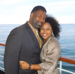Chrystal Evans Hurst and her husband.