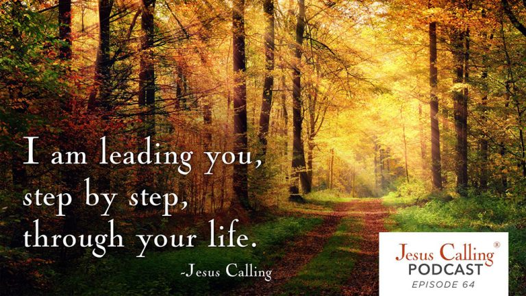 """I am leading you, step by step, through your life."" - Jesus Calling Podcast Episode 64"