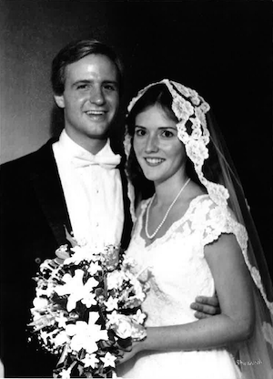 Bill and Crissy Haslam at their wedding.
