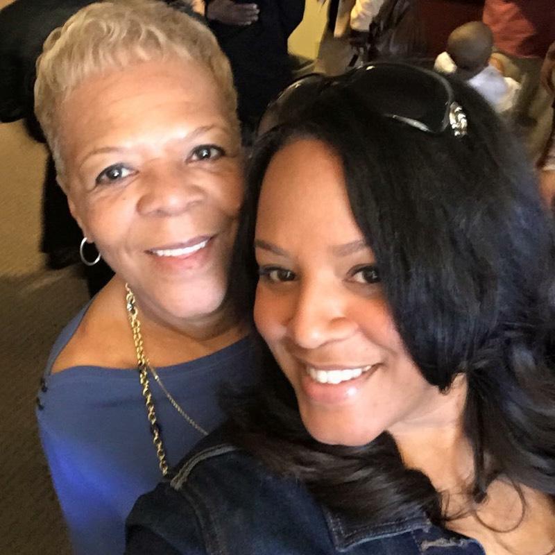 Brenda Wilson with her friend.