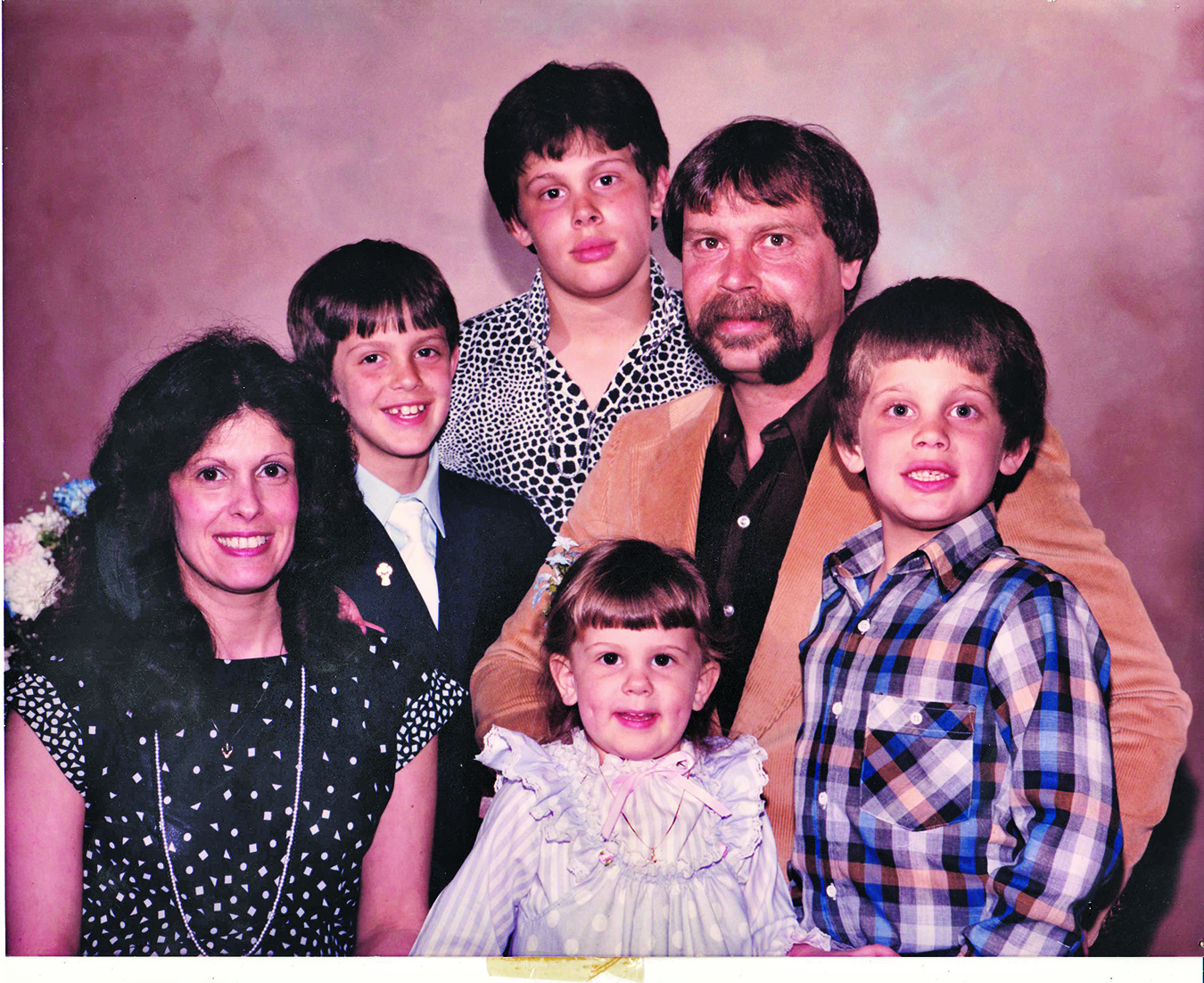 Family photo of the tv-personality, married to  Rachael Biester, famous for American Chopper.