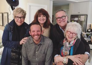 Mark Lowry and Andrew Greer with Patsy Clairmont, Anita Renfroe and Jan Silvonous