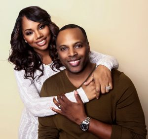Toure Roberts & his wife, Sarah Jakes Roberts