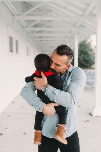 Michael Chandler and son
