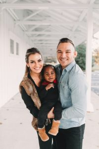 Family photo of MMA Champion, Michael Chandler and family