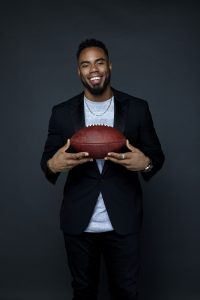 Rashad Jennings promo pic for his latest book, The IF in Life: How to Get Off Life's Sidelines and Become Your Best Self