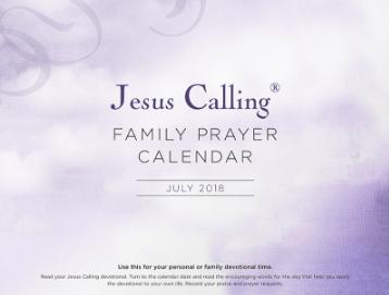 Jesus Calling - FREE Family Prayer Calendar