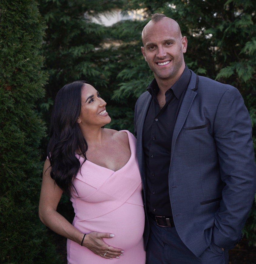 Mark & Danielle Herzlich pregnancy photo_as featured on Jesus Calling podcast