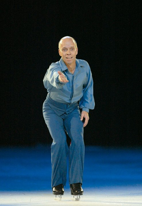 Champion ice skater, Scott Hamilton