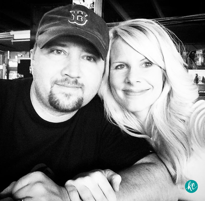 Author Kristy Cambron & her husband