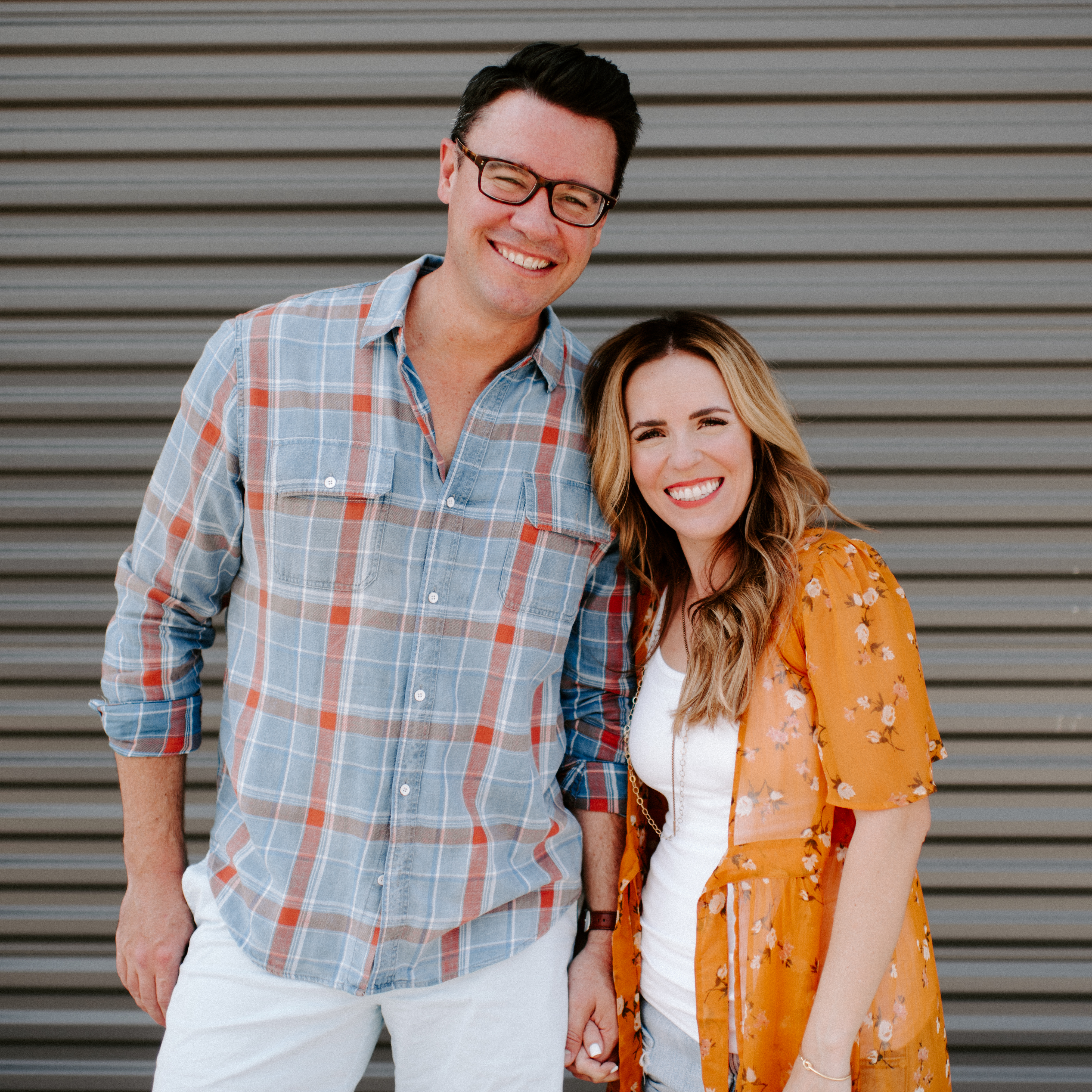 Rachel Hollis and her husband
