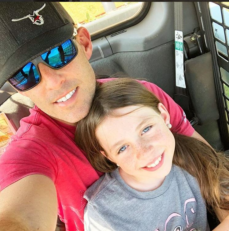 Aaron Watson and his daughter