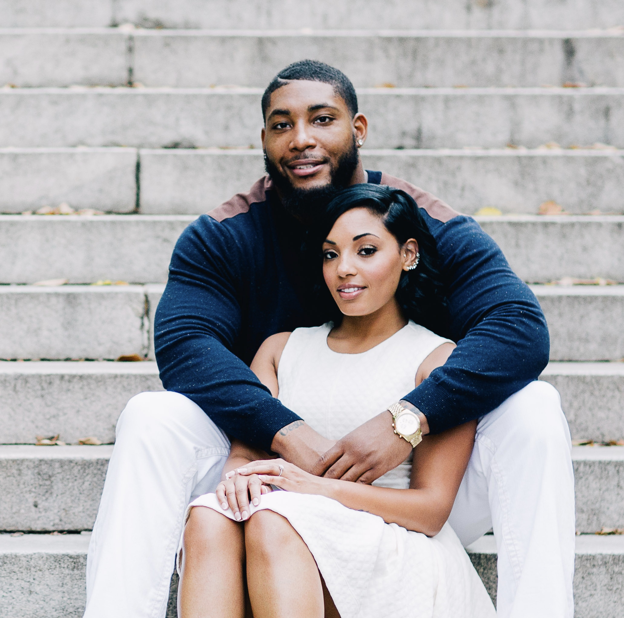 Devon Still and his wife Asha
