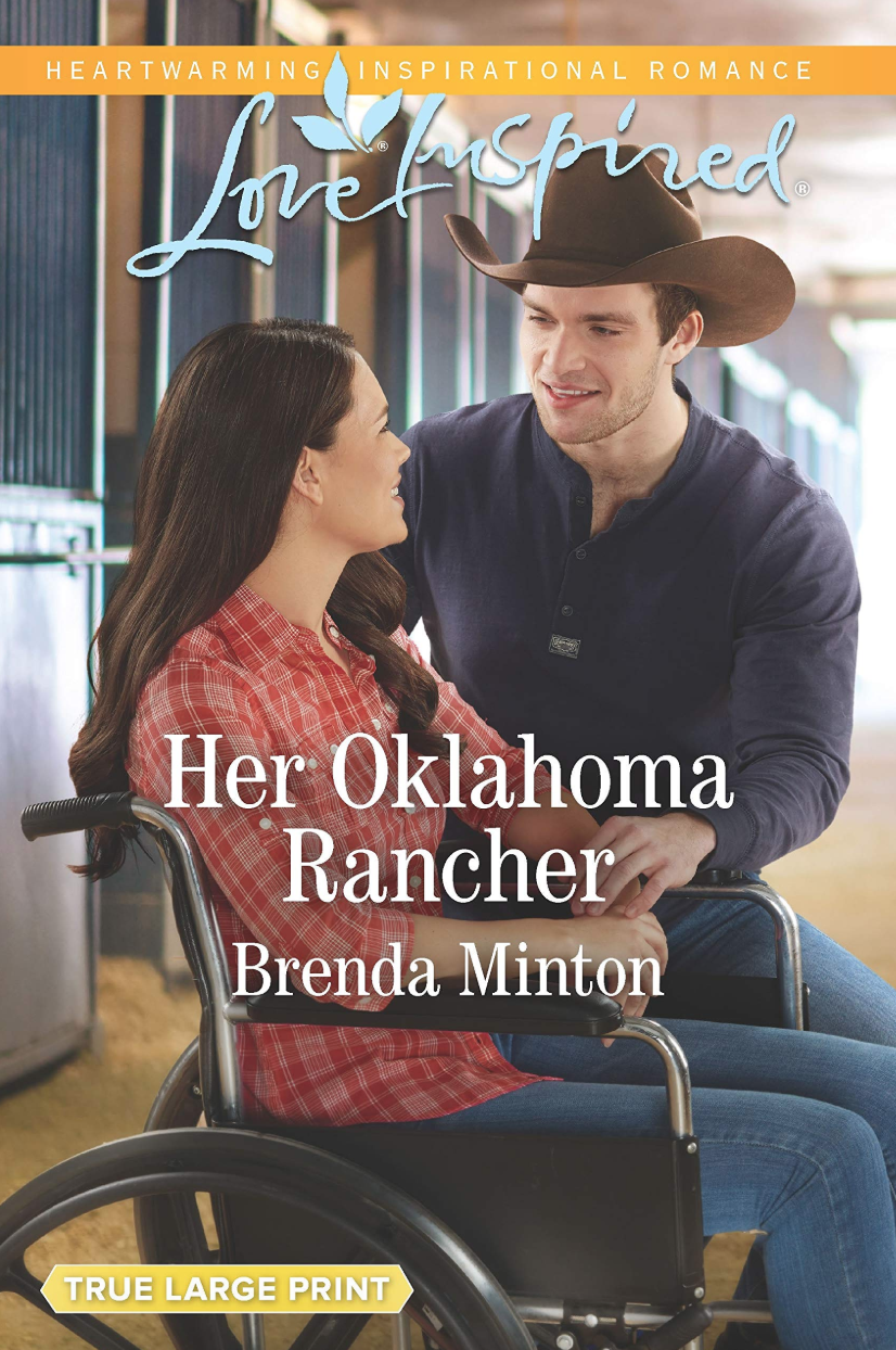 Love Inspired Inspirational Romace author Brenda Minton - Her Oklahoma Rancher book cover