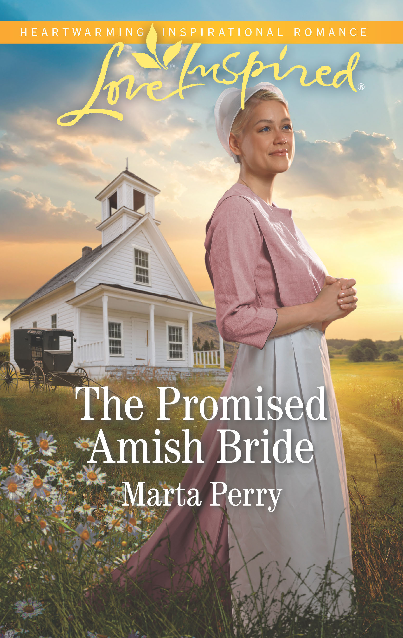 Love Inspired Inspirational Romance author Marta Perry - The Promised Amish Bride book cover