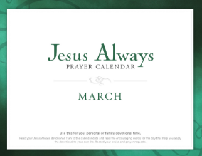 Jesus Always Prayer Calendar