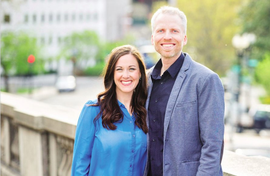 Joel & Nina Schmidgall as featured on the Jesus Calling podcat