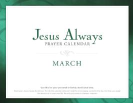 FREE Jesus Always March Calendar