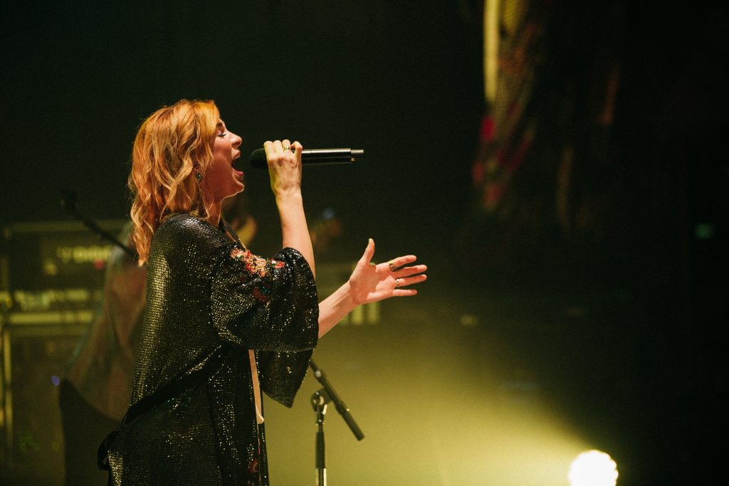 Jesus Culture's Kim Walker-Smith performing praise and worship music