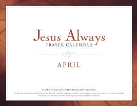 FREE Jesus Always Prayer Calendar