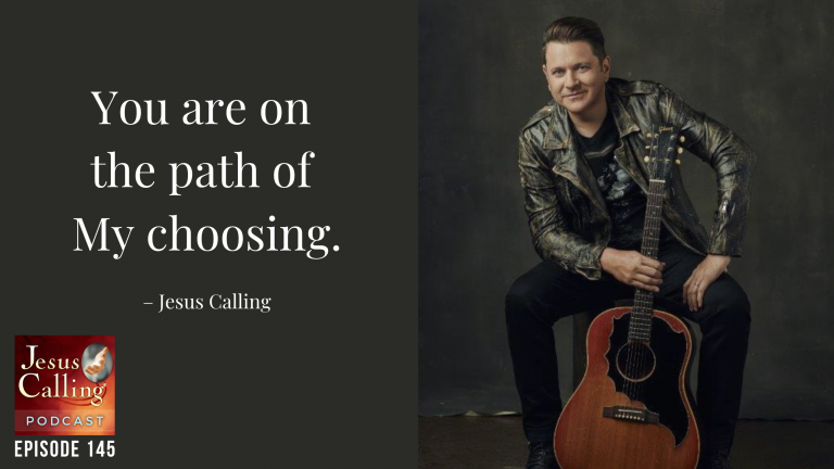 Jesus Calling podcast episode #145 featuring Rascal Flatts' Jay DeMarcus & Jesus Culture's Kim Walker-Smith