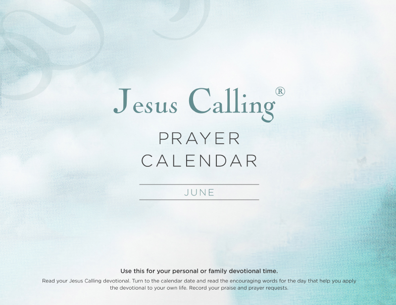 Jesus Calling June Prayer Calendar