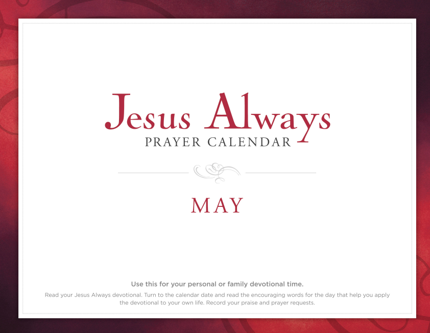 Jesus Always Prayer Calendar- May 2019