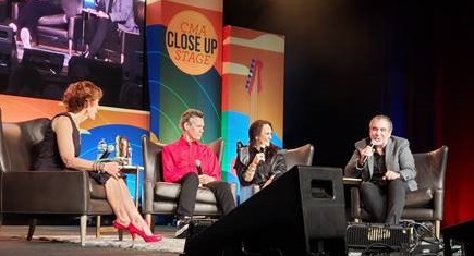 Rand and Mary Travis on Close Up Stage with Jesus Calling
