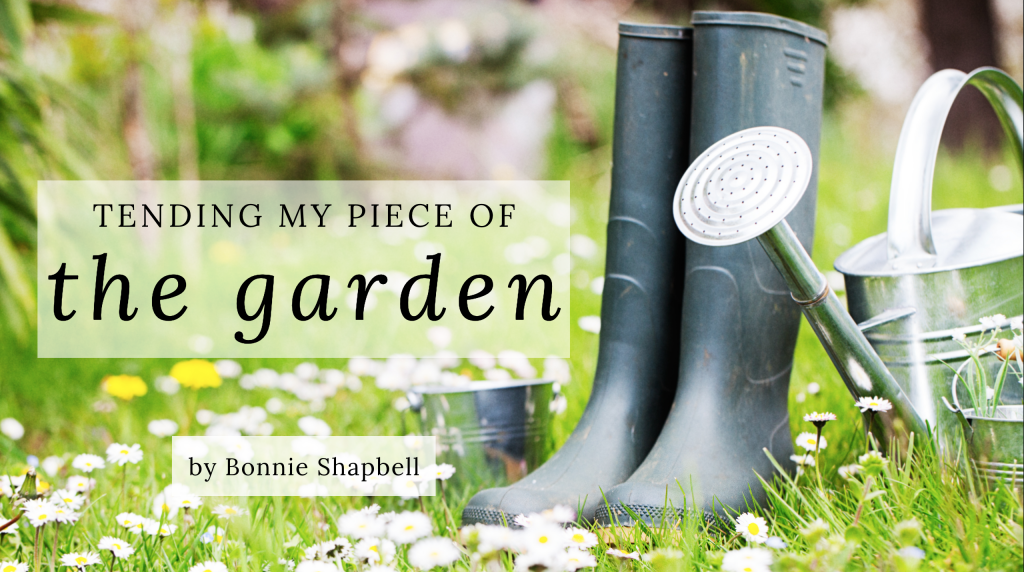 Jesus Calling blog Tending My Piece of the Garden by Bonnie Shapbell