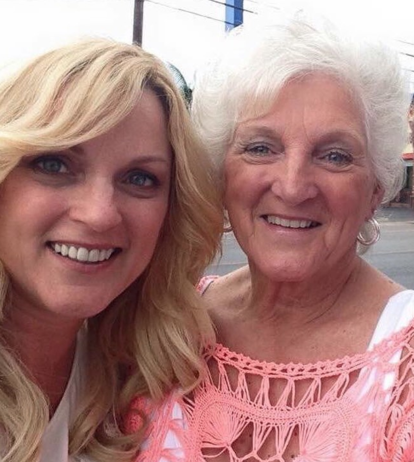 Country & bluegrass singer/songwriter, Rhonda Vincent and her mother. Rhonda recently shared with the Jesus Calling podcast audience an artist's influence and responsibility