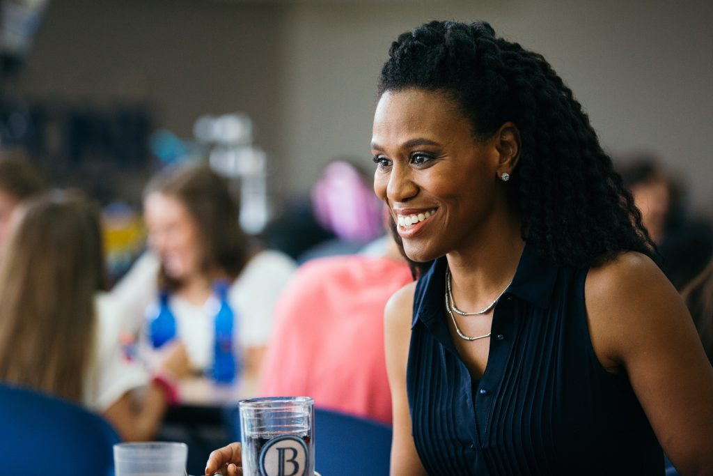 Priscilla Shirer on set of the Overcomer movie and featured on Jesus Calling podcast