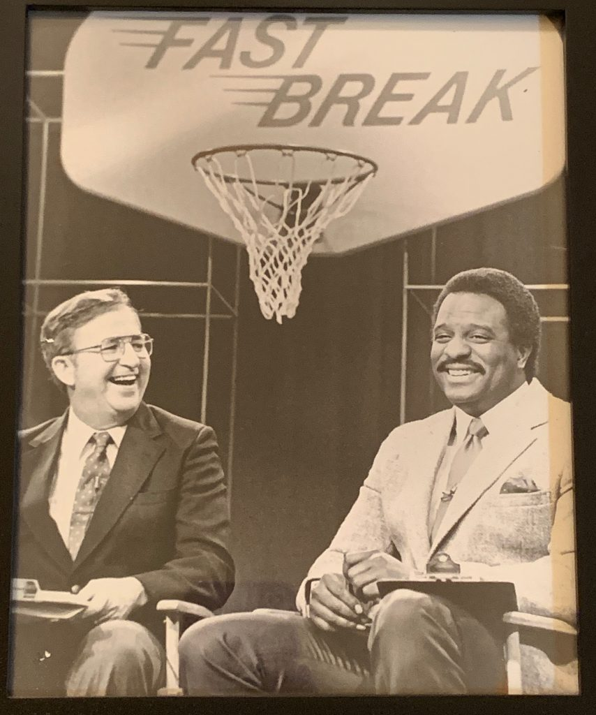 Vintage image of James Brown (sportscaster) as highlighted on Jesus Calling podcast