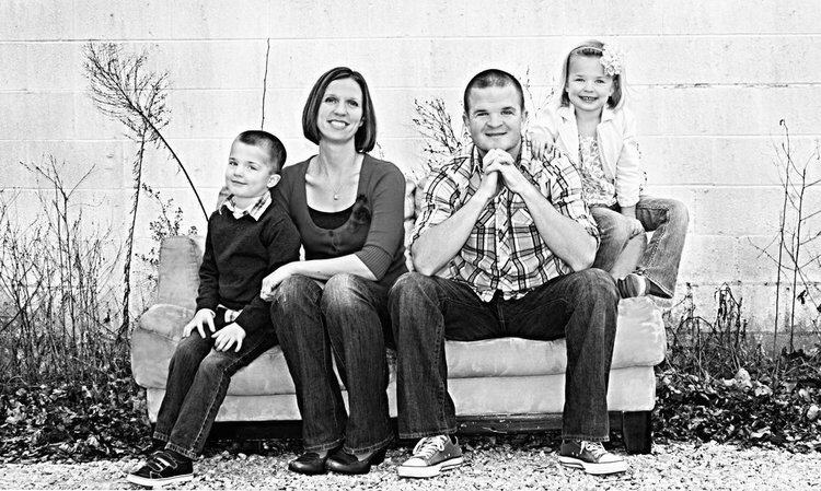 Jesus Calling podcast episode #166 welcomes author Jeff Huxford (pictured here with his beautiful family)