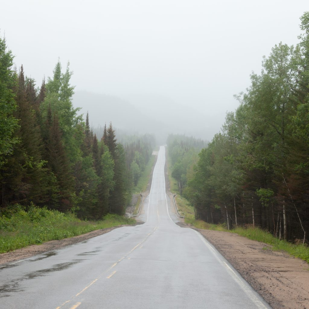 Singer/Songwriter Matt Maher recently joined the Jesus Calling podcast, where he shared about his beautiful homeland (pictured here: Rain and fog over Trans-Labrador Highway in Quebec, Canada. This remote road connects over more than 1100 km Quebec with Newfoundland Labrador City, Red Bay, Cartwright and Happy Valley Goose Bay)