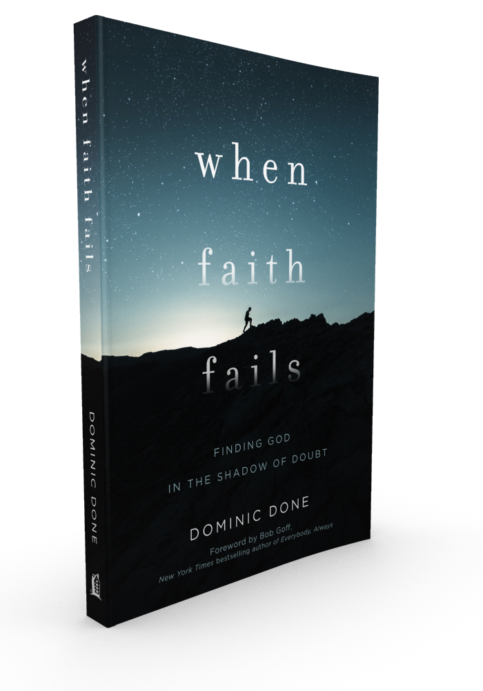 Jesus Calling podcast episode #164 features Dominic Don, who shares about his latest book, When Faith Doubts: Finding God in the Shadow of Doubt